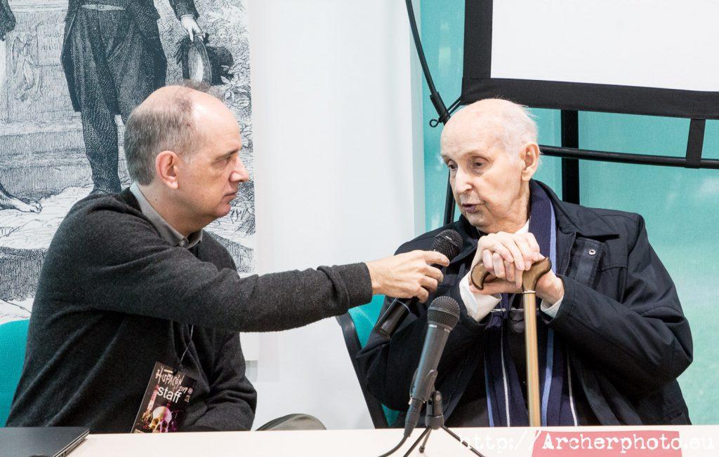Salvador Bayarri y Santiago Grisolía, fotos de la inauguración de Hispacón 2019.